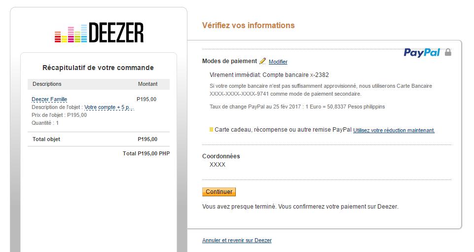 deezer comment payer moins cher son abonnement premium ou famille mr j r my. Black Bedroom Furniture Sets. Home Design Ideas